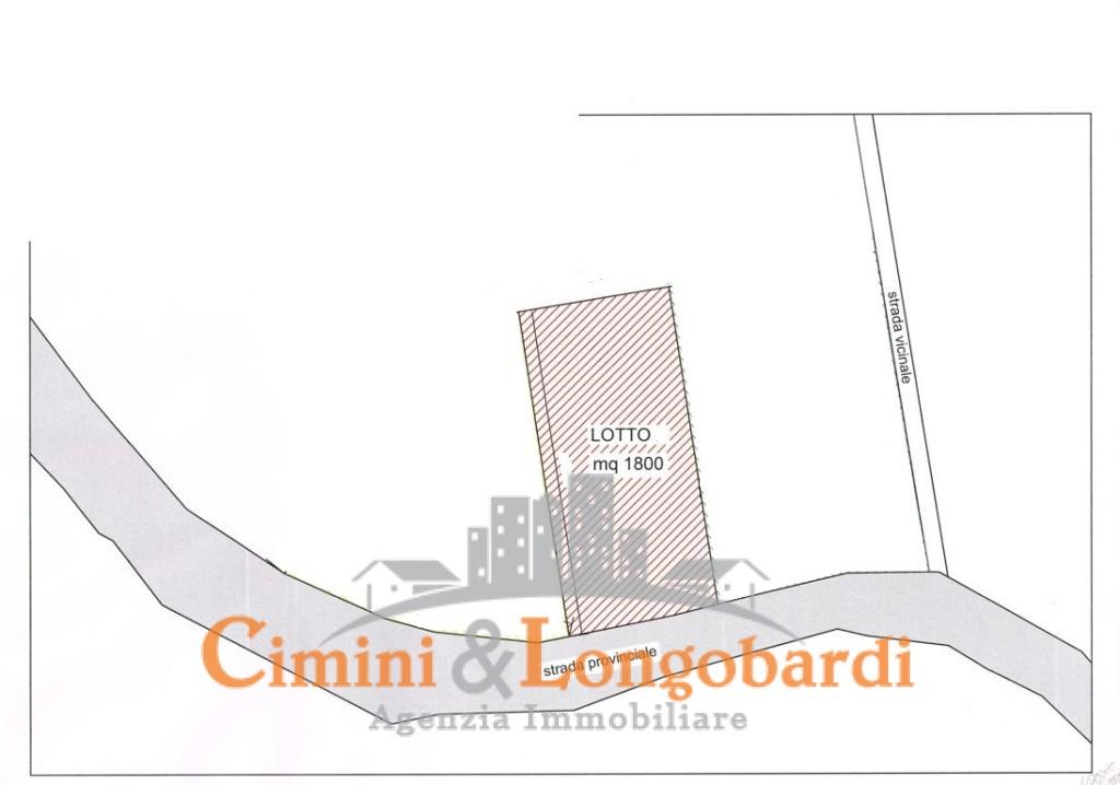 Terreno edificabile in posizione collinare e panoramica
